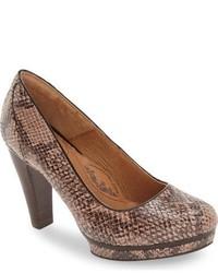 Zapatos de Tacón de Cuero Marrónes de Sofft