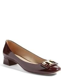 Zapatos de Tacón de Cuero Marrónes de Tory Burch