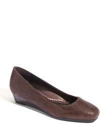 Zapatos de Tacón de Cuero Marrónes de Trotters