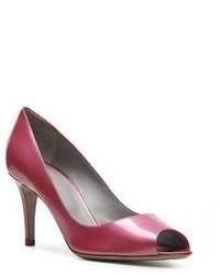 Zapatos de tacón de cuero morado