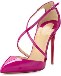 Zapatos de Tacón de Cuero Morado de Christian Louboutin