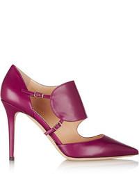 Zapatos de Tacón de Cuero Morado de Jimmy Choo