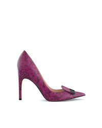 Zapatos de Tacón de Cuero Morado de Sergio Rossi