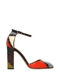 Zapatos de Tacón de Cuero Multicolor de Valentino