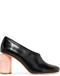 Zapatos de tacón de cuero negros de Acne Studios