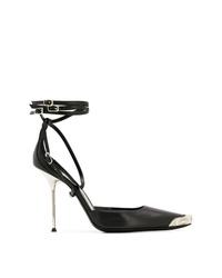 Zapatos de tacón de cuero negros de Alexander Wang