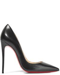 Zapatos de tacón de cuero negros de Christian Louboutin