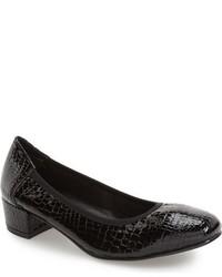 Zapatos de Tacón de Cuero Negros de David Tate