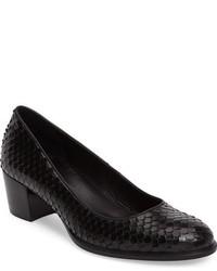 Zapatos de Tacón de Cuero Negros de Ecco