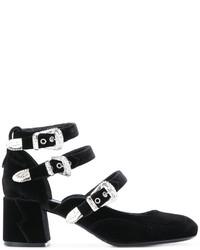Zapatos de tacón de cuero negros de MCQ