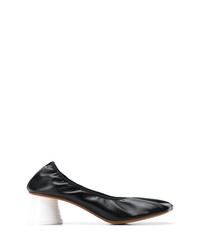 Zapatos de tacón de cuero negros de MM6 MAISON MARGIELA