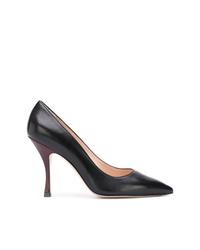 Zapatos de tacón de cuero negros de Stuart Weitzman