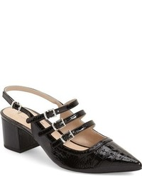 Zapatos de Tacón de Cuero Negros de Topshop