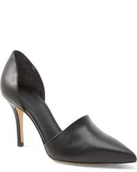 Zapatos de tacón de cuero negros de Vince