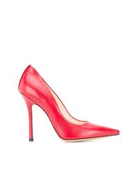 Zapatos de tacón de cuero rojos de Marc Ellis