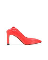 Zapatos de tacón de cuero rojos de Officine Creative
