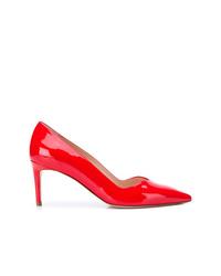 Zapatos de tacón de cuero rojos de Stuart Weitzman