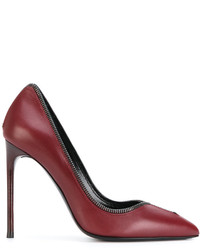 Zapatos de tacón de cuero rojos de Tom Ford