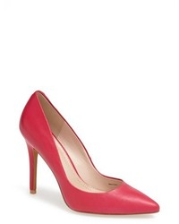 Zapatos de Tacón de Cuero Rosa de Charles by Charles David