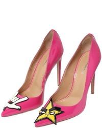 Zapatos de Tacón de Cuero Rosa de Dsquared2