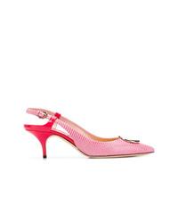 Zapatos de tacón de cuero rosa de Emilio Pucci