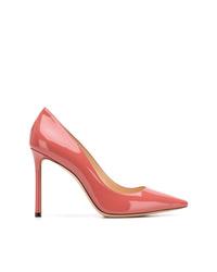 Zapatos de tacón de cuero rosa de Jimmy Choo