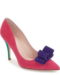 Zapatos de Tacón de Cuero Rosa de Kate Spade