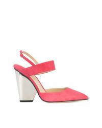 Zapatos de Tacón de Cuero Rosa de Paul Andrew
