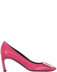 Zapatos de Tacón de Cuero Rosa de Roger Vivier