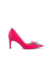 Zapatos de tacón de cuero rosa de Sergio Rossi