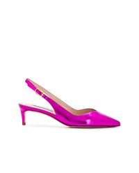 Zapatos de tacón de cuero rosa de Stuart Weitzman