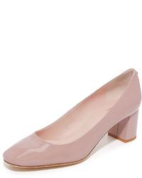 Zapatos de tacón de cuero rosados de Kate Spade