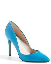 Zapatos de Tacón de Cuero Turquesa de Charles by Charles David
