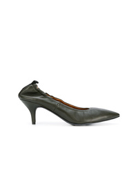 Zapatos de tacón de cuero verde oliva de Joseph