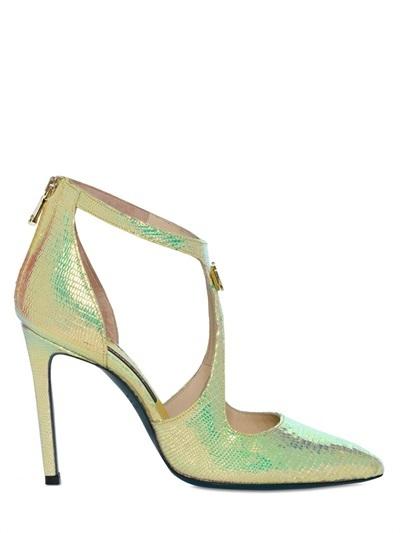 Verdes de de Cuero Tacón Zapatos FXqUSw