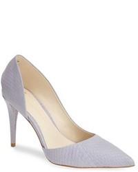 Zapatos de Tacón de Cuero Violeta Claro de AERIN