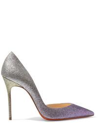 Zapatos de Tacón de Cuero Violeta Claro de Christian Louboutin