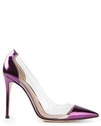 Zapatos de Tacón de Cuero Violeta