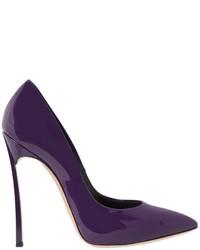 Zapatos de Tacón de Cuero Violeta de Casadei