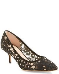 Zapatos de Tacón de Encaje Negros