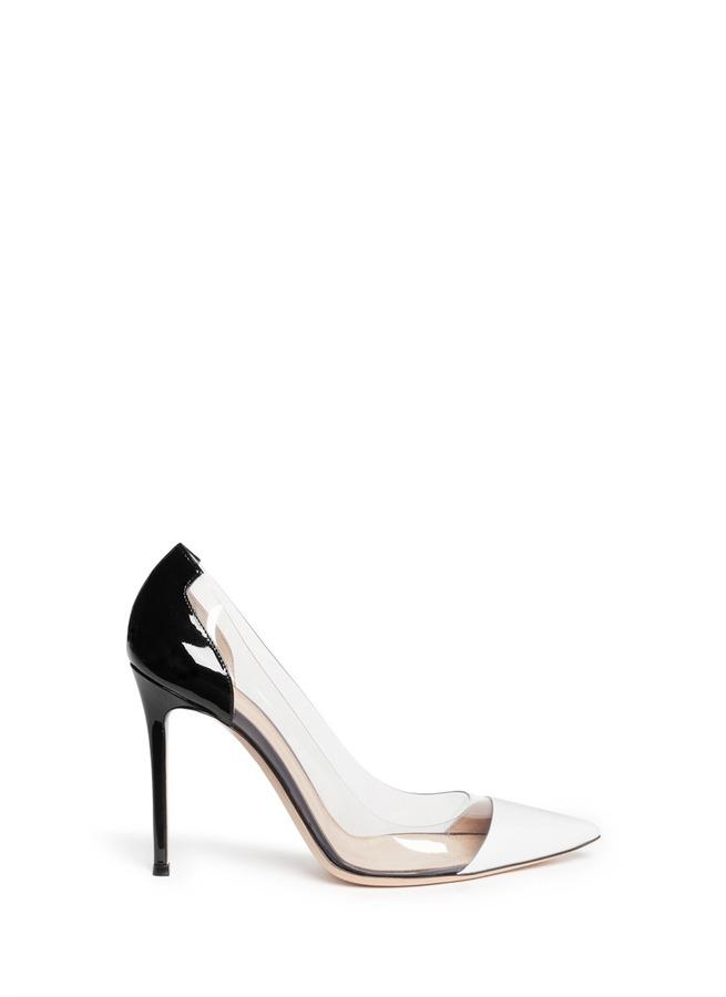 ... Zapatos de Tacón de Goma Transparentes de Gianvito Rossi