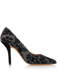 Zapatos de tacón de lona negros