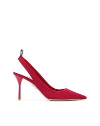 Zapatos de tacón de lona rojos de Miu Miu