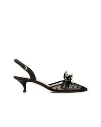 Zapatos de tacón de malla negros de RED Valentino