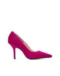 Zapatos de tacón de pelo de becerro rosa de Anna F.