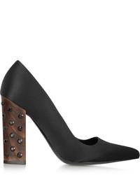 Zapatos de tacón de satén negros de Stella McCartney