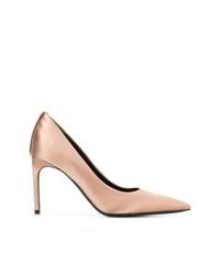 Zapatos de tacón de satén rosados de Tom Ford