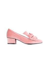 Zapatos de tacón de terciopelo rosados
