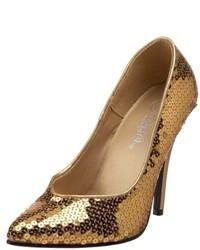 Zapatos de tacón dorados