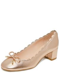 Zapatos de tacón dorados de Kate Spade